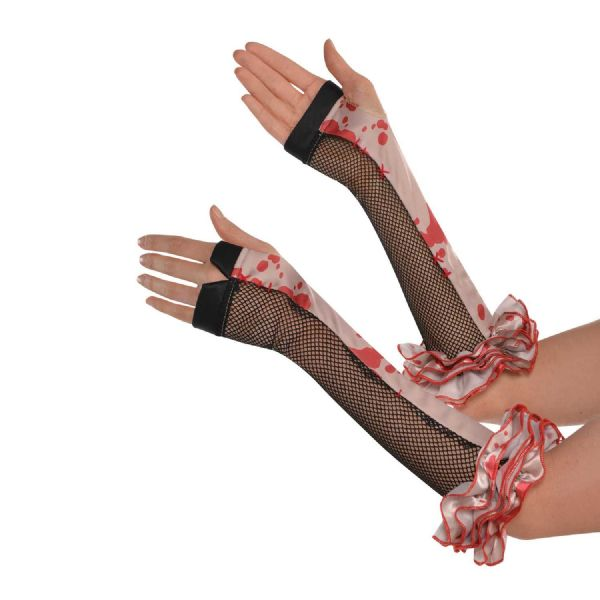 Fingerless Gloves Halloween Fancy Dress Outfit Accessory